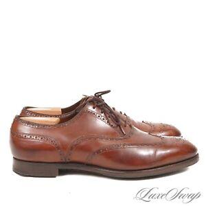 #1 MENSWEAR Edward Green England Rouge Brown Cadogan Wingtip Shoes 202 10.5 11