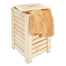 Large Dirty Clothes Wooden Baskets Laundry Box Towel Washcloth Bathroom