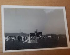 Photograph Sporting history horse Jumping Fence At showjumping Event 1960's