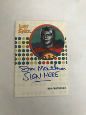 Lost in Space Complete Don Matheson as Idak Autograph Card WOW SIGN HERE  SWB