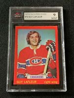 GUY LAFLEUR  1973-74 OPC # 72 Gray Back GRADED KSA 9 (MINT) Montreal Canadiens