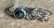 NWT OR PAZ  STERLING SILVER 925 HEMATITE DOUBLE RING SZ 8, 9, 10  MADE IN ISRAEL