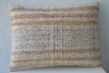 """Vintage Kilim Lumbar Pillow 20"""" x 14"""" Decorative Throw Pillow Handmade Pillow"""