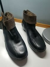 Easy Spirit Ankle Boots Black Leather 9.5 M back Zipper