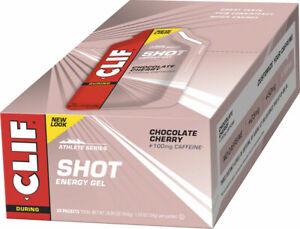 Clif Bar Clif Shot Energy Gel Choc Cherry Turbo w/ 100mg Caffeine Box of 24