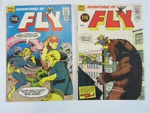 ADVENTURES OF THE FLY 2 ISSUE RUN #21 & 22 VG Silver age super hero-Marv Wolfman