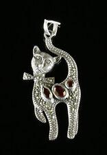 Garnet Silver Pendant/Locket Victorian Fine Jewellery