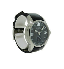 Breil BW0216 Women's Round Analog Mother of Pearl Black Patent Leather Watch