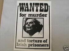 IRISH REPUBLICAN WANTED FOR MURDER POSTCARD COLLECTORS ITEM