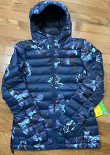 Lole Women's Quilted Packable With Pouch Weight 700 Down Hooded Jacket Coat Sz S