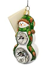 Patricia Breen Delightful Snowman Pine Pinecone Christmas Tree Holiday Ornament