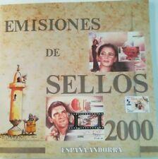2000 LIBRO DE CORREOS NUEVO CON TODOS SUS SELLOS ESPAÑA Y ANDORRA