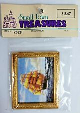 Small Town Treasures Dollhouse Miniatures Picture of Sailing Ship