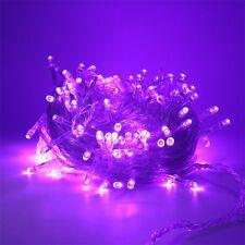 10M 100leds LED String Light Transparent Wire Wedding Party Fairy Xmas Lamp 110V