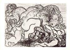 PABLO PICASSO- Minotauro atacando a una amazona -28x22 cm-1956-COA