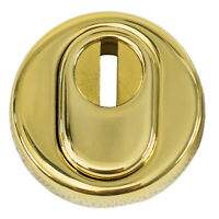 Schutzrosette Edelstahl | Messing poliert mit Zylinderabdeckung | B4273ZA