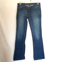 Gap Size 8  29 Women's Boot Cut Jeans Blue Long  Low Rise Medium Wash Premium