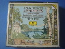 BOX 2 CD DG 423 604-2 / RIMSKY-KORSAKOV NEEME JARVI 3 SYMPHONIES / GER 1988 MINT