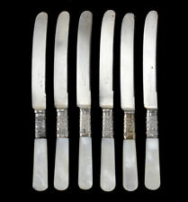 6 Silverplate and Mother of Pearl Butter Knives