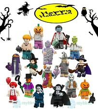16PCS Halloween Vampire Demon Ghost Witch Mini Figure Building Blocks DIY Toy