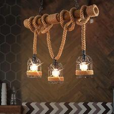 Industrielampe Metall Vintage Hängeleuchte Seil Pendelleuchte Deckenlampen
