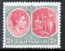 ST.KITTS-NEVIS King George VI 1938 2s/6d.Black & Scarlet P13x12 SG 76 MINT