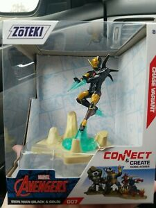 Zoteki Marvel Avengers Iron Man Super Rare Chase Variant Black & Gold Figure 007