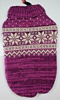 Bailey & Bella Companion Couture - Mulberry Snowflake Acrylic Sweater (Pet/Dog)