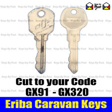 Eriba Caravan keys Cut to your Code GX91 to GX320. Puck, Triton, Pan, Troll