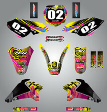 Full  Custom Graphic  Kit -NEON STYLE - Suzuki DRZ 125 / 2001 - 2007 stickers