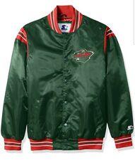 Minnesota Wild STARTER Retro Satin Snap Jacket, Green, Men's 5XL NHL NWT