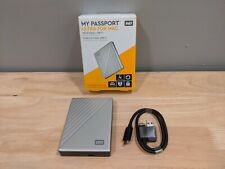 WD My Passport 4TB Ultra For Mac Portable External Hard Drive (WDBPMV0040BSL)