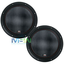"(2) MTX 7512-44 12"" 75-Series DUAL 4-OHM CAR AUDIO STEREO SUBS SUBWOOFERS *PAIR*"