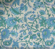 10 Yard Indian Hand Block Print Cotton Fabric  Running Loose Printed Decor