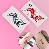 Fox Temporary Tattoo for Women Body Art Animal  Waterproof Tattoo Sticker PipFLA
