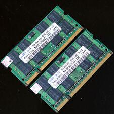 Samsung 4GB 2x 2GB PC2-5300 2Rx8 DDR2 667 MHZ laptop 200PIN memory SO-DIMM SDRAM