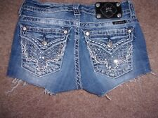 Women Miss Me Brand Denim Cutt Off Shorts Flap Pockets SiZe 26 GUC!!!