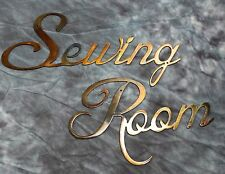 Metal Wall Art Decor Sewing Room Copper/Bronze Plated