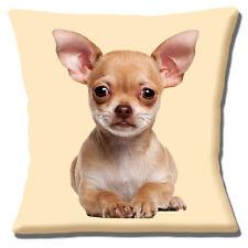 """Carino Chihuahua CUCCIOLO di cerbiatto vicino foto stampa su Crema 16"""" CUSCINO COVER"""