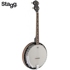 NEW Stagg 4-String BJM30-4DL Deluxe Bluegrass Banjo with Metal Pot 30 Hooks
