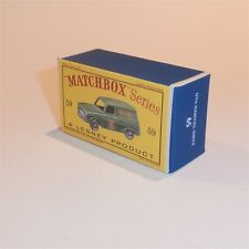 Matchbox Lesney 59 a Ford Thames Singer empty Repro D style Box