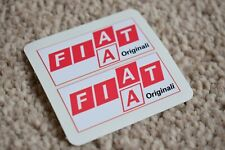 FIAT Original Racing Race Sports Bikes Car Rally Decal Stickers Red 100mm