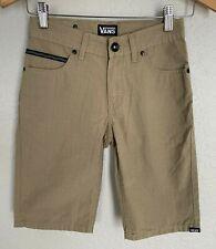 VANS Boys Shorts Size 10 NEW NWT Tan Beige Ashbury