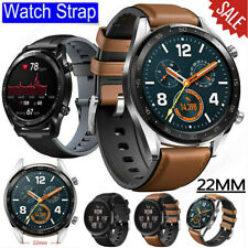 AU 22mm Genuine Leather & Silicone Wrist Band Strap For Huawei Watch GT 2e 46mm