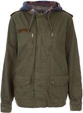 TOPSHOP Green navajo hood army jacket