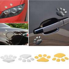Novelty 2Pcs ABS 3D Dog FootPrint Sticker Paw Printed Car Window Wall Decal DIY