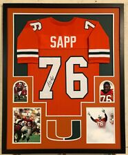 Warren Sapp Autographed Custom Framed Miami Hurricanes Jersey JSA Witnessed COA