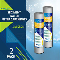 "2 Pack Sediment 1 Micron Water Filter Cartridges 2.5"" x 10"" for Reverse Osmosis"