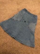 Quicksilver Roxy jean  denim skirt Size 2 side zip  (knee-length.)
