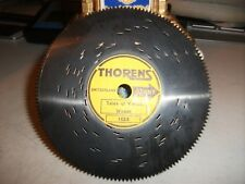 Vintage Thorens Metal Music Box Disc-Tune:Tale Of The Vienna Woods #1